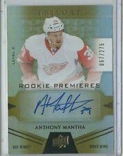 Anthony Mantha RC Auto #/275 True Rookie Autograph SP Rare 2016-17 UD Trilogy