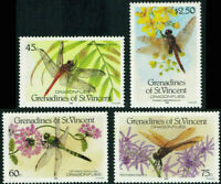 DRAGONFLIES Grenadines of St Vincent Scott #546 - 549 Mint NH Complete Set