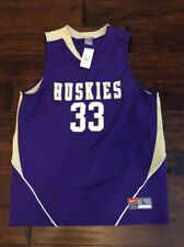 Nike Men's Washington Huskies #33 Basketball Jersey Sz. Large NEW STITCHED