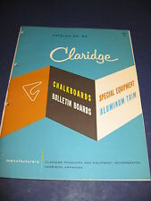 1963 Claridge Products & Equipment Asbestos Chalkboards Asbestocite Thermoroc