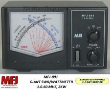 MFJ-891 Giant Cross Needle, Peak Reading, SWR/Wattmeter,  2000 Watts, 1.6-60MHz.
