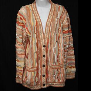 "Women's Vintage Cuggi ""Coogi"" Mercerised Cotton Cardigan Sweater Size Small"