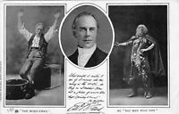 """POSTCARD  ACTORS  E W WILLARD IN """" THE MIDDLEMAN """" & """" THE MAN WHO WAS """""""
