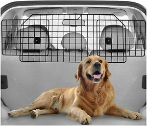 Rabbitgoo Black Adjustable Large Heavy Duty Dog Car Barrier For SUV Van Vehicles