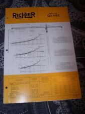 P5 Brochure/Prospectus RICHIER/Ford Grue a tour GT 1177