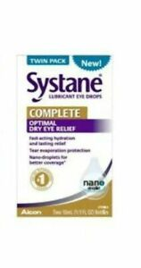 Systane Complete Lubricant Eye Drops, 10ml - 2 Pack. Exp 02/22 Or Better