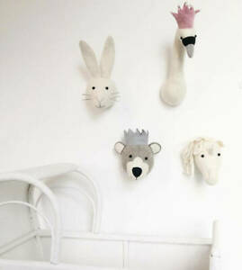 Fiona Walker Felt Animal heads