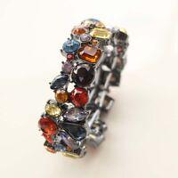 New ViVI Acrylic Glass Elastic Bracelet Gift Fashion Women Holiday Party Jewelry