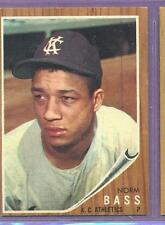 1962 TOPPS # 122 NORM BASS A'S NM O/C