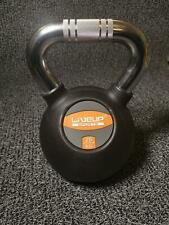 Rubber Kettlebell 16kg 20kg  with Chrome Handle home gym AU stock