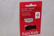 SanDisk Cruzer Blade 4 GB USB Compact Portable Flash Drive SDCZ50 NEW