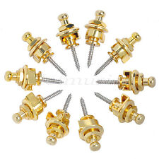 10x Golden schaller-style Strap Locks  For Electric Acoustic Guitar Bass new