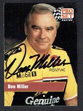 Don Miller #10 signed autograph auto 1991 Pro Set NASCAR Trading Card