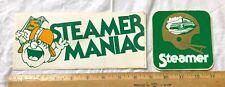 Vintage Lot Of 2 World Football League Shreveport Steamer Decal Bumper Stickers