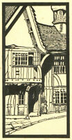Mid 20th Century Pen and Ink Drawing - British Street