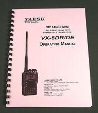 Yaesu VX-8DR / DE Instruction Manual - Premium Card Stock Covers & 32lb Paper!