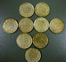 Lot Of 9 British India 1922 - 1928 1/12 Anna Coins