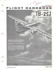 1957 TB-25J MITCHELL BOMBER TRAINER PILOTS FLIGHT MANUAL AIRCRAFT HANDBOOK-CD
