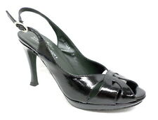 DONALD PLINER Couture ZILLA  Black Pumps Size 7 Heels Shoes Italy