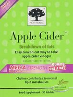 NEW NORDIC Apple Cider Vinegar Capsules Mega Strength One-A-Day 30 capsules