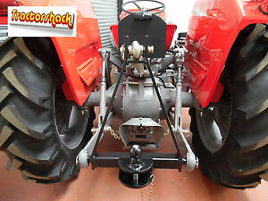 A Frame 3 Point Tow Hitch - Compact Tractor Mounted Towing Cat 1 Ball & Pin