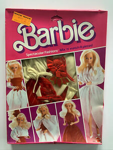 NRFB 1984 Superstar Barbie Spectacular Fashions - Mix N Match - Red White #9145