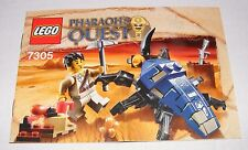 2011 LEGO Pharaoh's Quest Scarab Attack (7305) INSTRUCTION MANUAL New