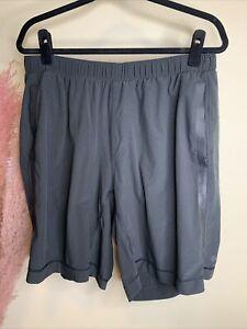 Lululemon Men's Shorts Unlined Draw String Running Black Size XL
