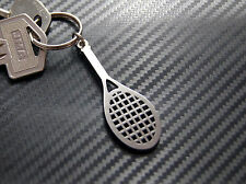 TENNIS RACQUET Ball Court Wimbledon Tournament Keyring Keychain Steel Gift