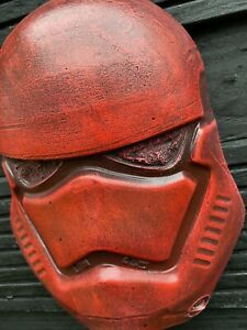 Red Stormtrooper Style Wall Mask FanArt Hanging Face Plaque Star Wars Ornament