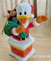VTG Disney's Donald Duck made in Sri Lanka of Porcelain Christmas Ornament