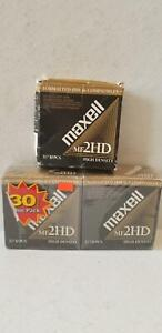 """Maxell MF2HD 3.5"""" Micro Floppy Disk Format IBM Compatible 25 Pieces"""