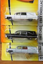 1963 Cadillac Matchbox Hearse Lot of 3 Black/White/Silver