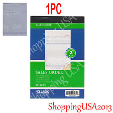 1 X Invoice Sales Order Book 50 Set Forms 2 Part Carbonless Receipt