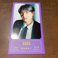 BTS Bang Bang Con Official Message Photo Card SUGA Min Yoongi Bantan Boys