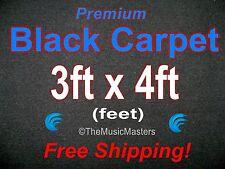 3' x 4' BLACK CARPET for Car Sub Speaker Box Cabinet Pro Road Case Trunk Liner