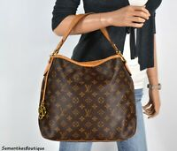 LOUIS VUITTON DELIGHTFUL PM MONOGRAM LEATHER SHOULDER BAG TOTE HANDBAG PURSE