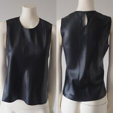 Judith & Charles Women Black Sleeveless Keyhole Back Blouse Shirt Made Canada 8