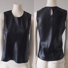 Judith & Charles Women Black Sleeveless Keyhole Back Blouse Shirt Made Canada 6