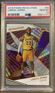 LEBRON JAMES 2018 Panini Revolution #40 1st LA Lakers Investment PSA 10 QTY