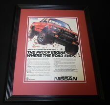 1985 Nissan 4x4 Framed 11x14 ORIGINAL Vintage Advertisement