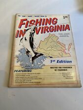 1971 Fishing In Virginia 1st Edition Publication
