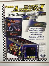 """Mario Andretti Pinball By Gottlieb Promotional Brochure-1995-""""New&# 034;In Plastic"""