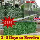 Artificial Faux Ivy Leaf Hedge Panels Roll Privacy Screening Decor Garden Fence