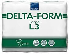 Abena Delta-Form Plastic Backed Large Number 3 100-150 cm Nappy Diaper x 15