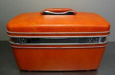 60's Beauty Case oranges Samsonite Silhouette Beautycase Hartschalen Koffer 60er
