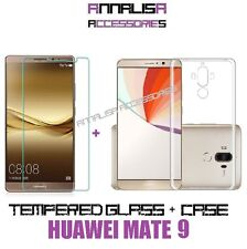 KIT COVER + PELLICOLA VETRO TEMPERATO PER HUAWEI MATE 9 CASE TPU TEMPERED GLASS