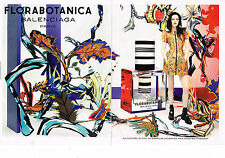 PUBLICITE ADVERTISING 094  2012  BALENCIAGA  parfum FLORABOTANICA ( 2 pages)