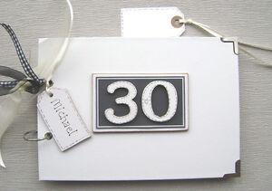 PERSONALISED 30th BIRTHDAY. BLACK..A5 SIZE.. PHOTO ALBUM/SCRAPBOOK/MEMORY BOOK.