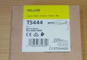GENUINE EPSON T5444 Yellow cartridge ORIGINAL 220ml ink C13T544400 incl VAT 2020